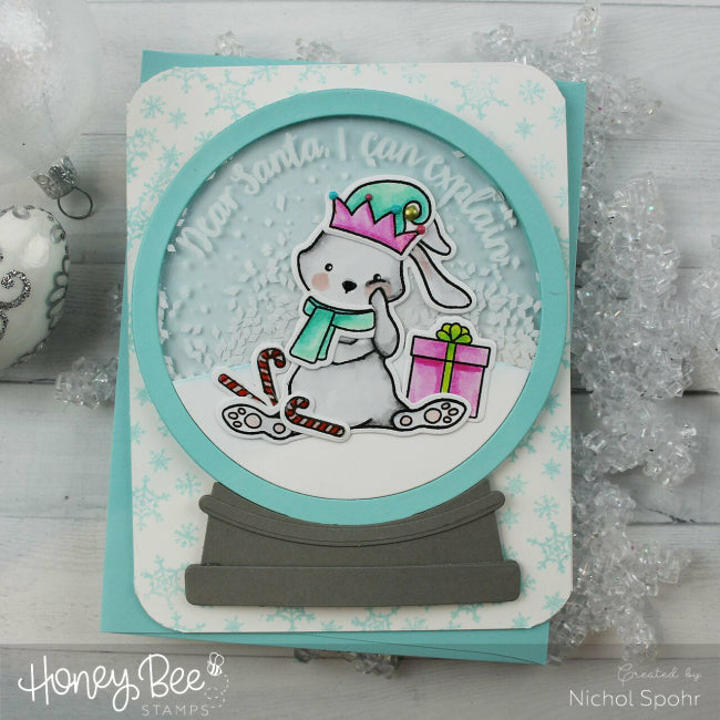 Load image into Gallery viewer, Globe & Ornament Shaker Card | Honey Cuts