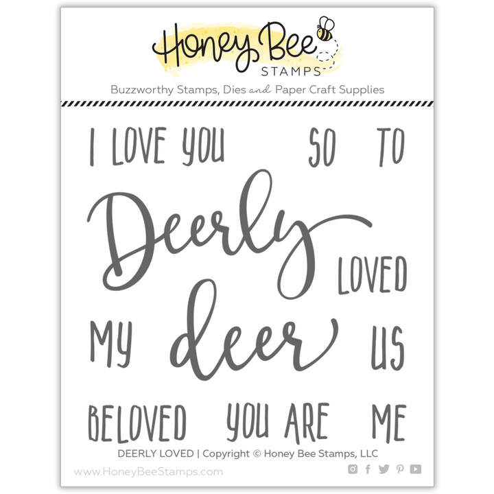 Honey Bee Stamps DEERLY LOVED