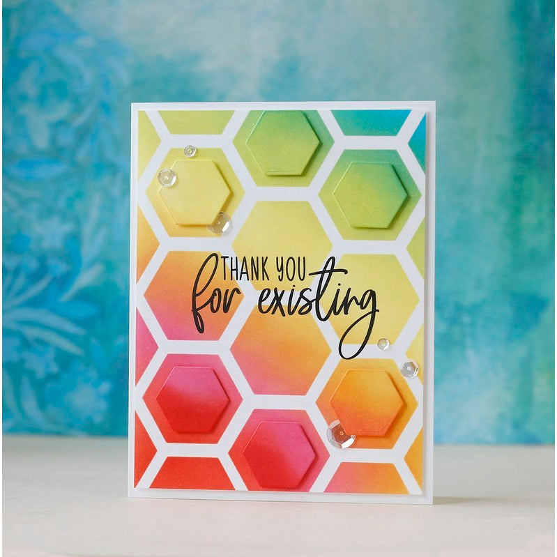 Hexagon Patterns | Stencils | Set of 2