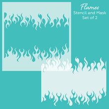 Load image into Gallery viewer, Flames | Stencil and Mask | Set of 2