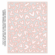 Load image into Gallery viewer, Fluttering Hearts Pierced Cover Plate | Honey Cuts