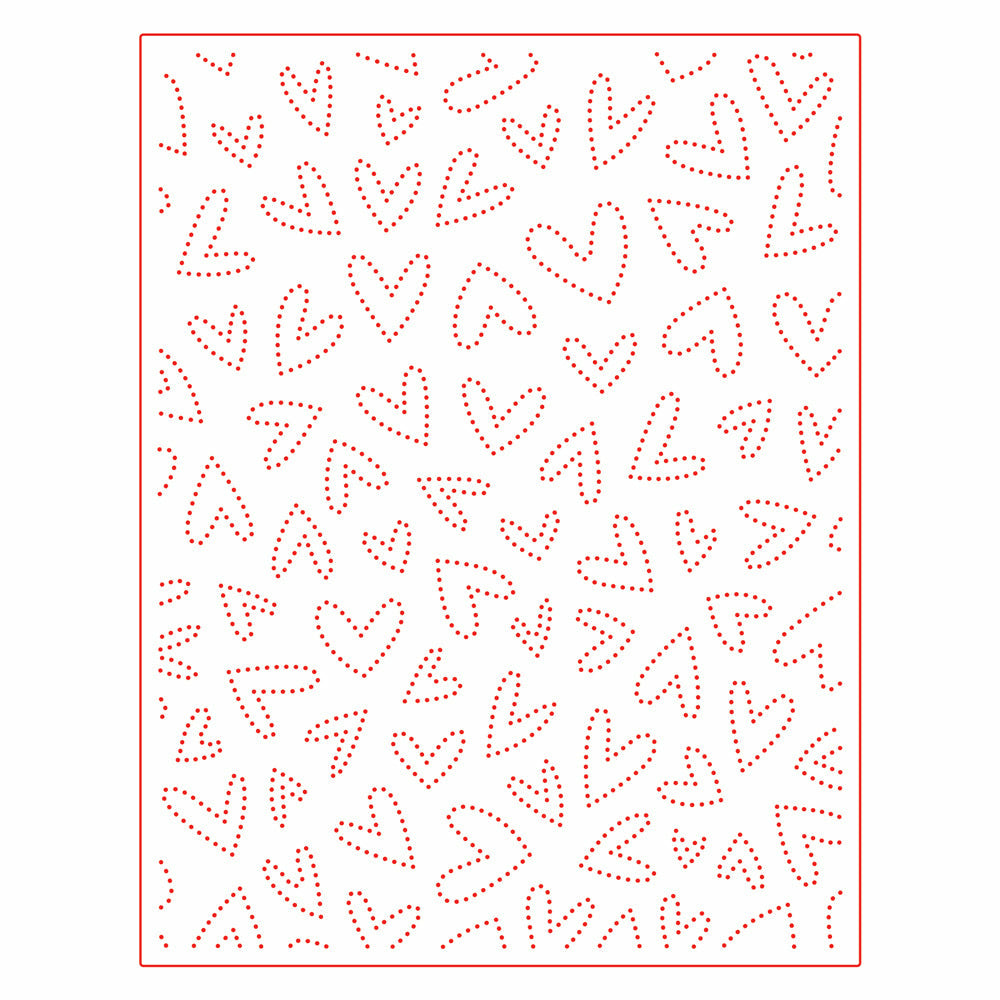 Fluttering Hearts Pierced Cover Plate Honey Cuts