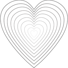 Load image into Gallery viewer, Stacking Hearts | Honey Cuts