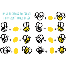 Load image into Gallery viewer, Honey Bees Paper Piecing | Honey Cuts