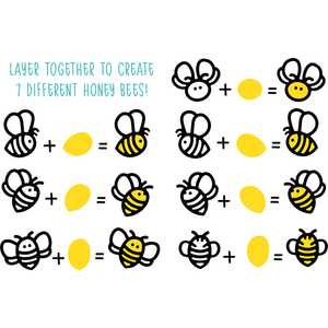 Honey Bees Paper Piecing | Honey Cuts