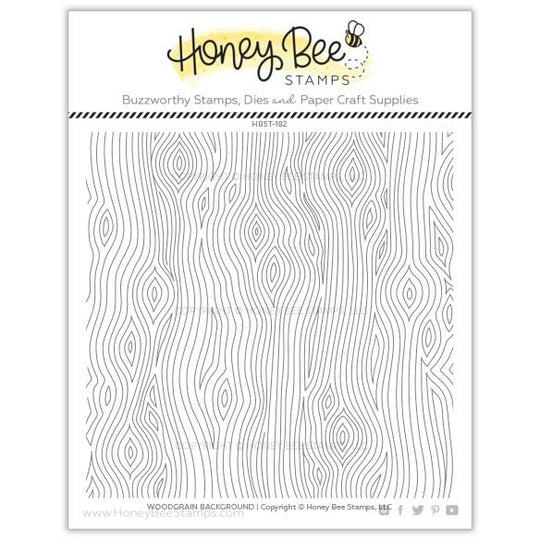 Honey Bee Stamps WOODGRAIN BACKGROUND