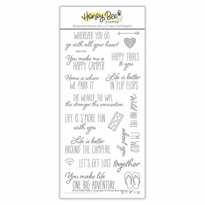 Wild and Free | 4x8 Stamp Set
