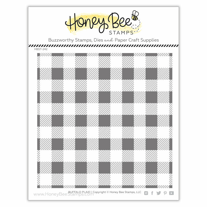Honey Bee Stamps Buffalo Plaid