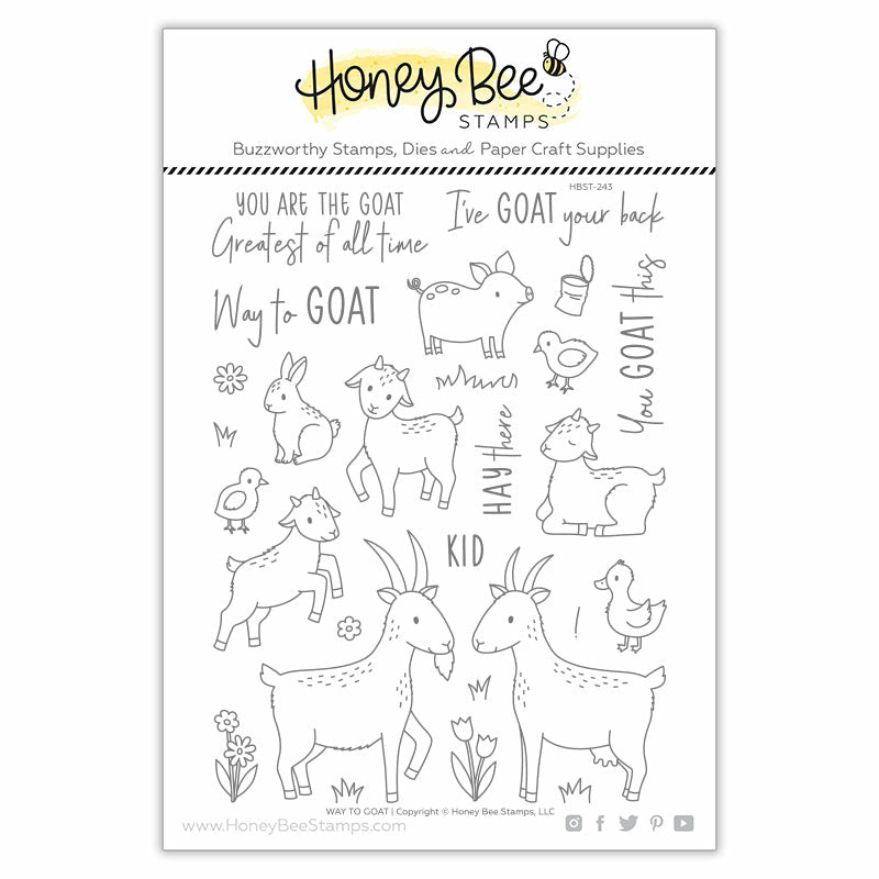 Load image into Gallery viewer, Way To Goat | 6x8 Stamp Set