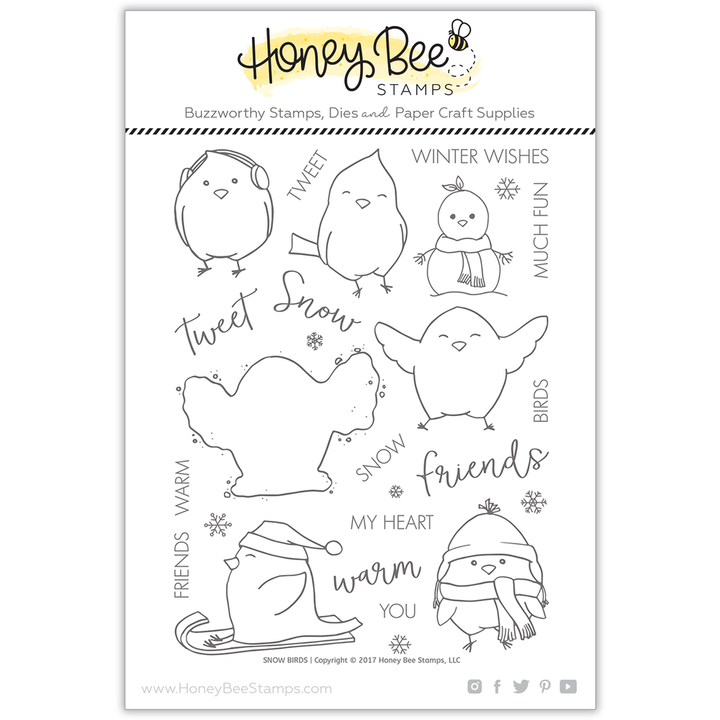 Snow Birds | 6x8 Stamp Set