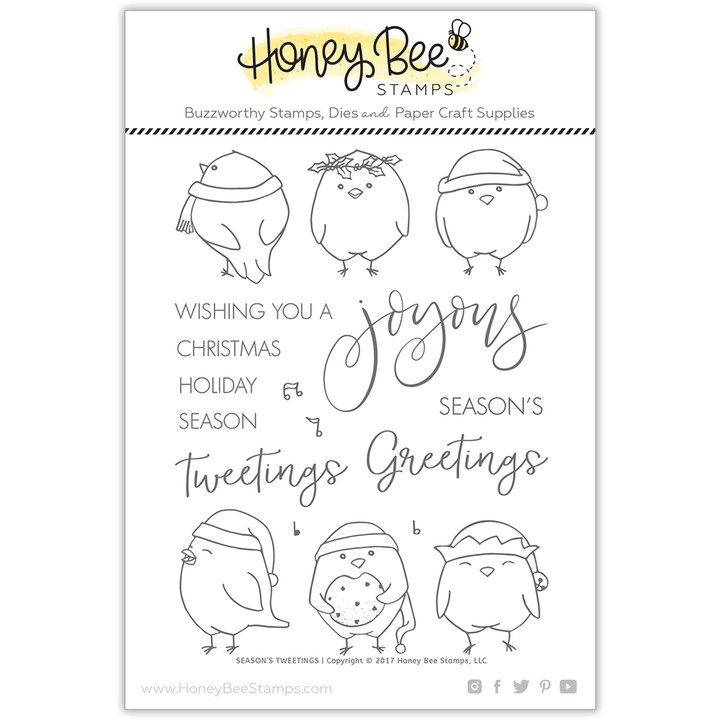 Season's Tweetings | 6x8 Stamp Set