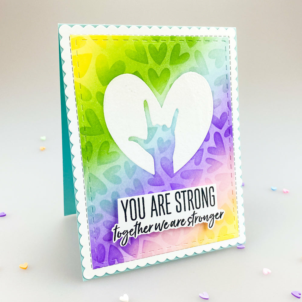 Load image into Gallery viewer, Hero Arts + Honey Bee Collaboration | You Are Amazing | 6x8 Stamp Set