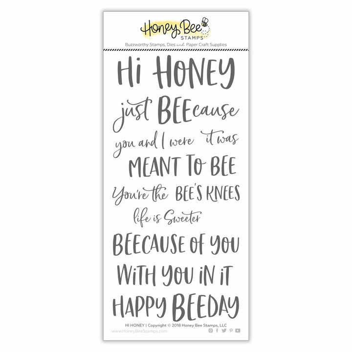 Hi Honey | 4x8 Stamp Set