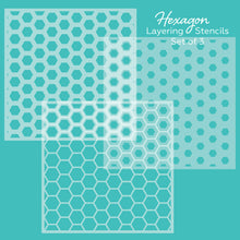 Load image into Gallery viewer, Hexagon Layering | Background Stencils | Set of 3