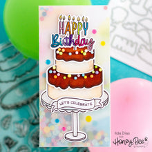 Load image into Gallery viewer, Cake Banner Sentiments | 2x2 Stamp Set