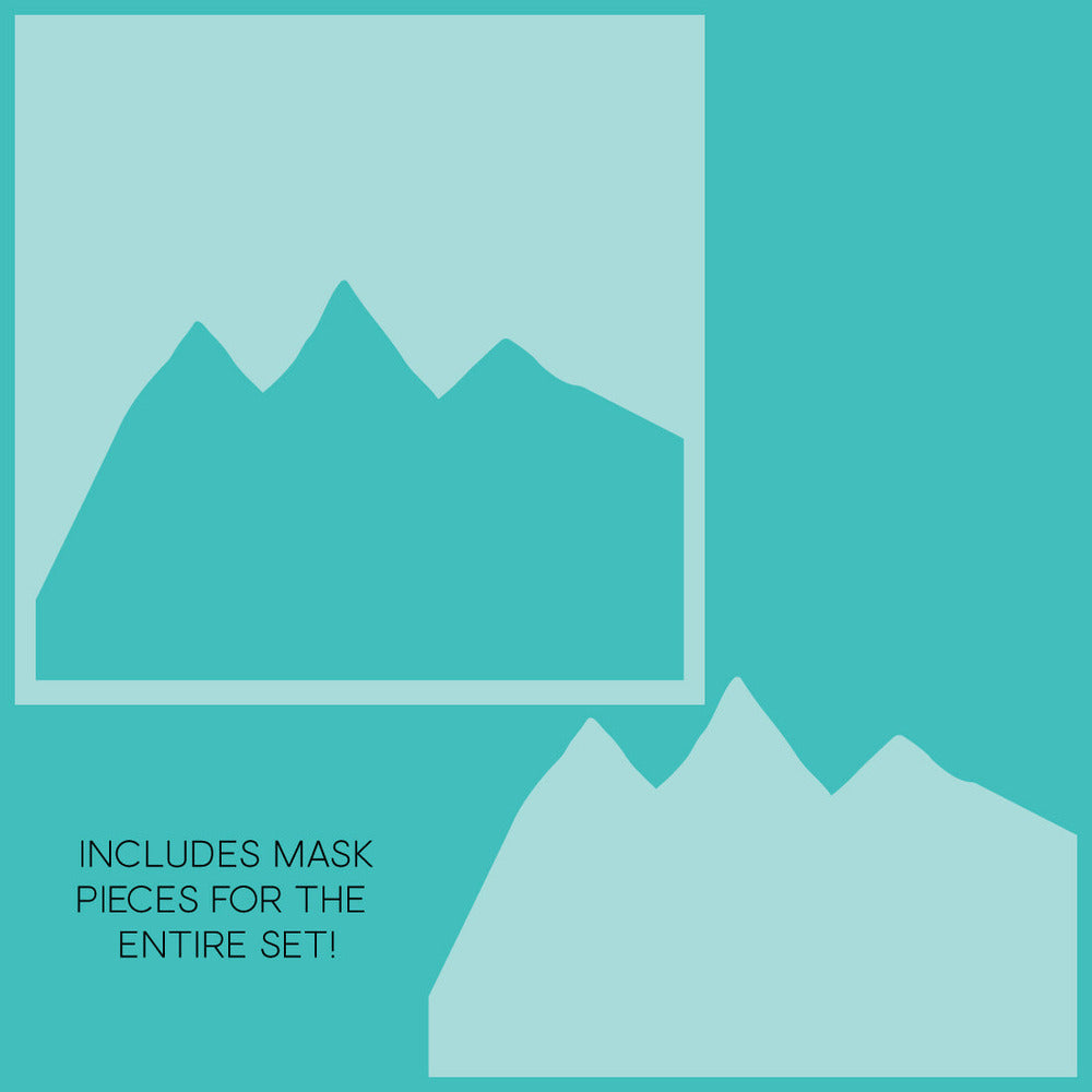 Load image into Gallery viewer, Mountain Z-Fold | Stencils & Masks | Set of 11