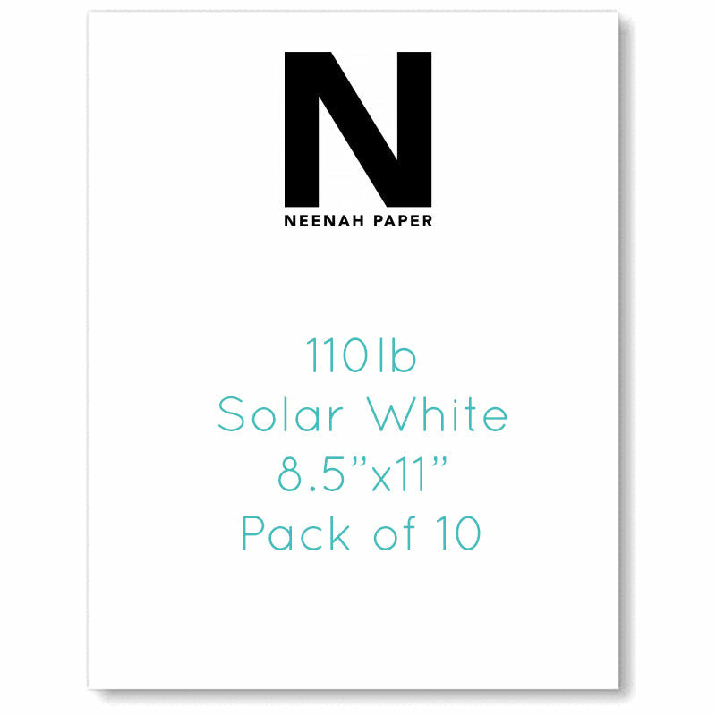 "Load image into Gallery viewer, Neenah 110lb Classic Crest Cardstock 8.5""X11"" 
