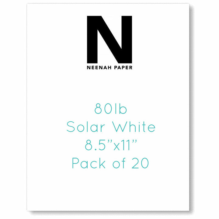 Cardstock - 8.5 x 11 - Neenah, Solar White - 25 Pack Exclusive