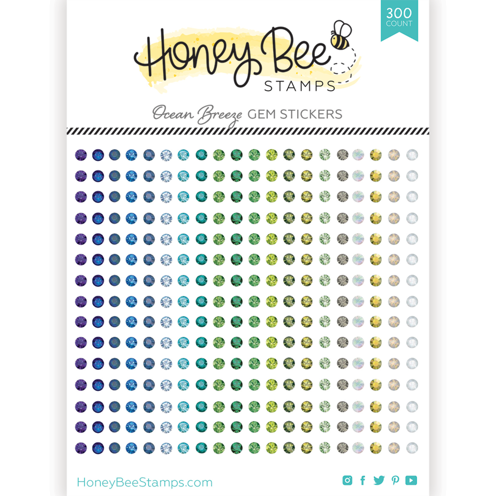 Load image into Gallery viewer, Gem Stickers | 300 Count | Ocean Breeze