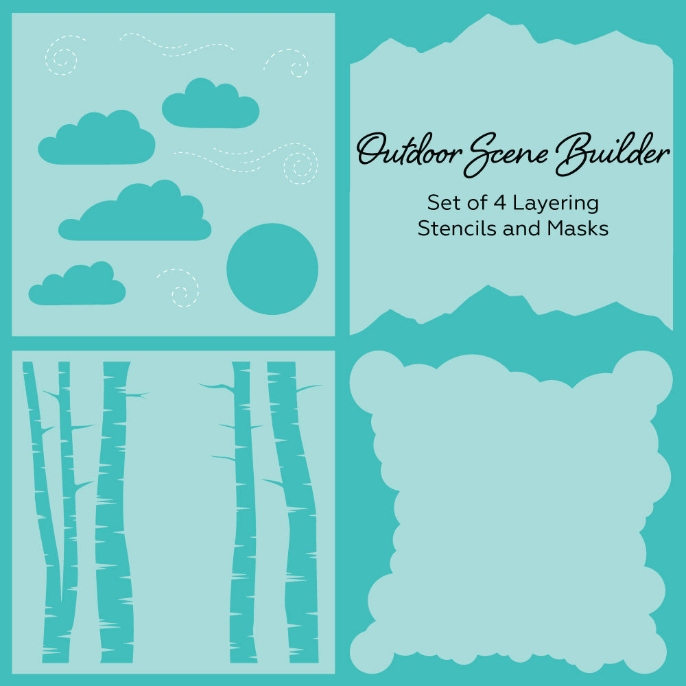 Load image into Gallery viewer, Outdoor Scene Builder | Background Stencils | Set of 4