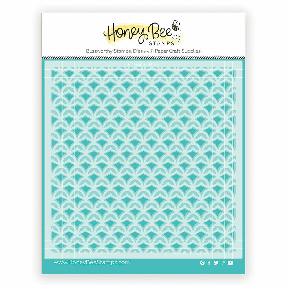 Load image into Gallery viewer, Pineapple Lattice | Stencils | Set of 2