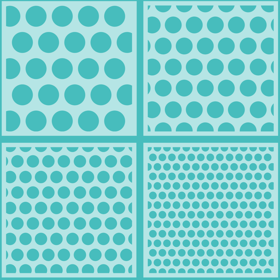 Polka Dot Background | Set of 4 Stencils