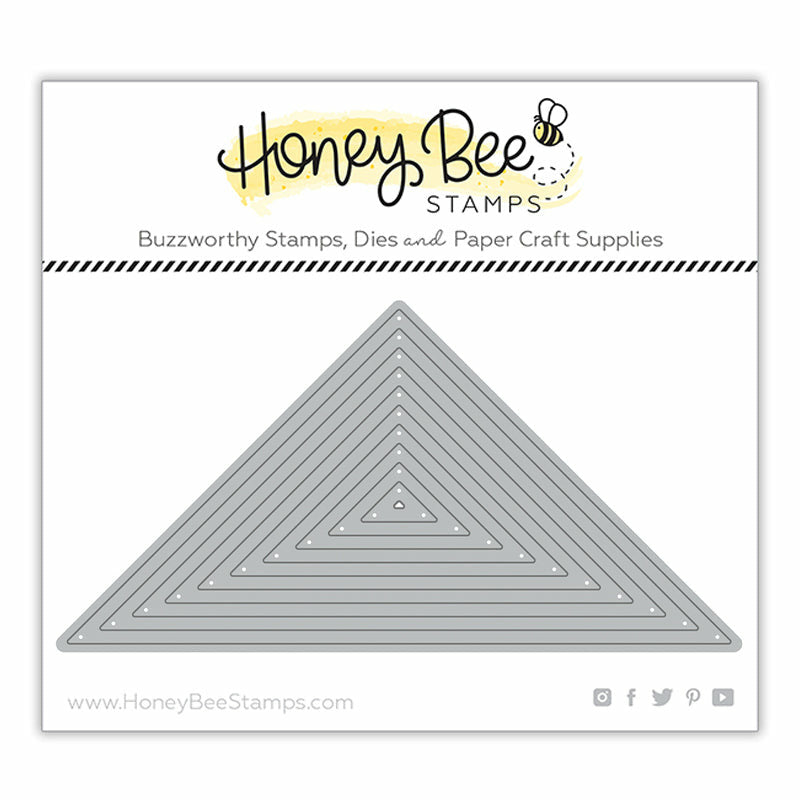 Load image into Gallery viewer, Quilt Triangle Thin Frames | Honey Cuts