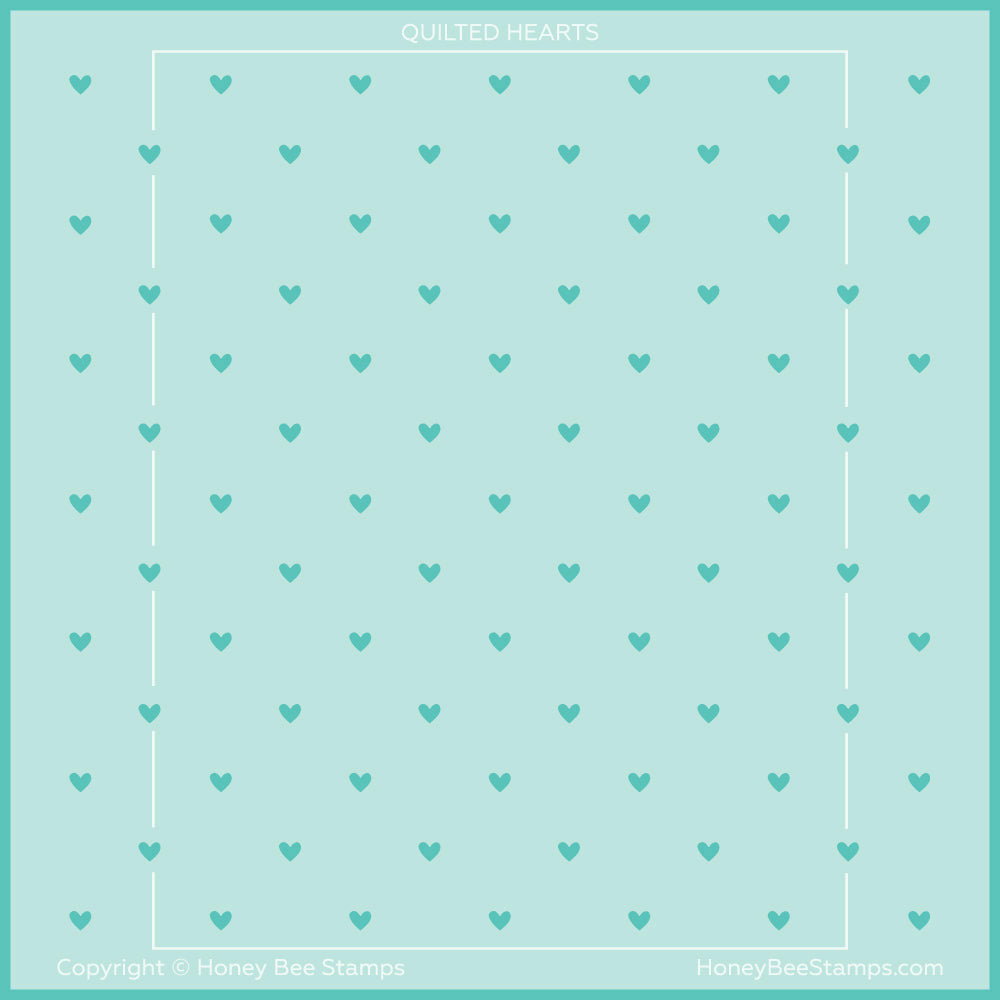 Load image into Gallery viewer, Quilted Hearts & Dots | Stencils | Set of 2