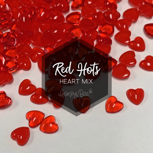 Red Hots | Acrylic Hearts Mix