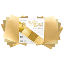 Load image into Gallery viewer, Craft Perfect | Mixed Card Stock Pack | 6x6 24/pkg | Gold Hearted