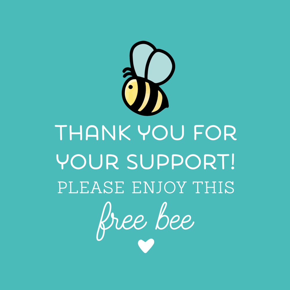 Load image into Gallery viewer, FREE BEE Stamp - While Supplies Last!