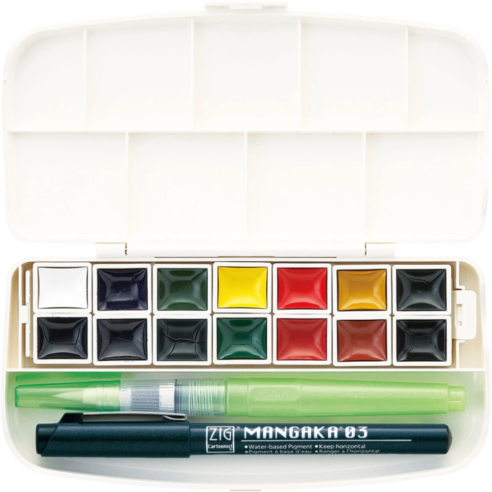 Load image into Gallery viewer, Zig Watercolor | 14 Color Set - Transparent