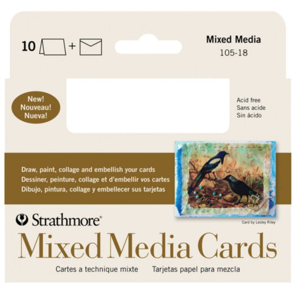 "Load image into Gallery viewer, Strathmore | Mixed Media Cards & Envelopes | 3 1/2"" x 4 7/8"" 10 Pk"