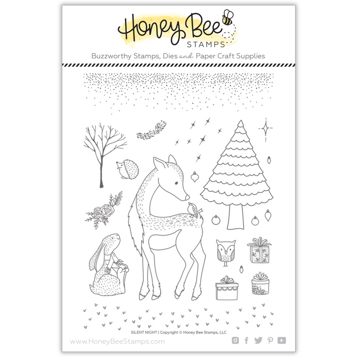 Honey Bee Stamps SILENT NIGHT