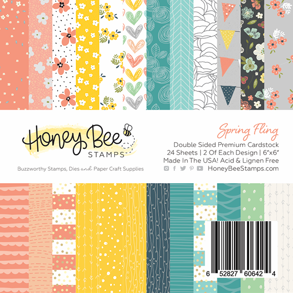 Spring Fling | 6x6 Paper Pad | 24 Double Sided Sheets