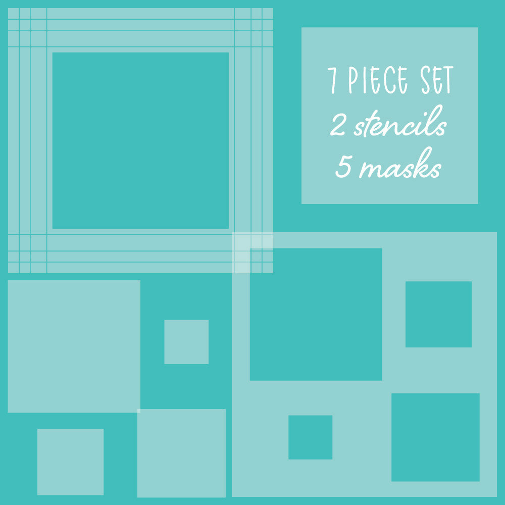 Load image into Gallery viewer, Square Spotlight | Stencils & Masks | Set of 7