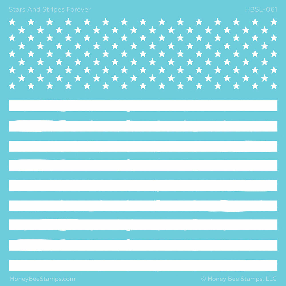 Load image into Gallery viewer, Stars and Stripes Forever | Background Stencil