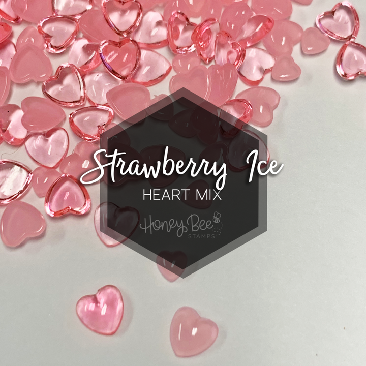 Strawberry Ice | Acrylic Hearts Mix