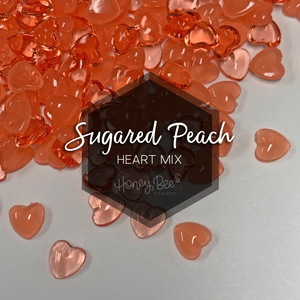 Sugared Peach | Acrylic Hearts Mix