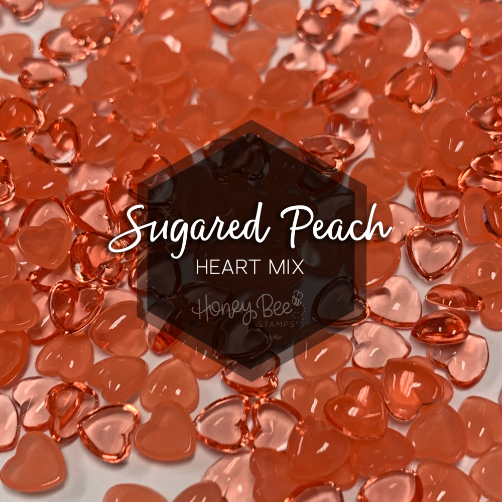 Load image into Gallery viewer, Sugared Peach | Acrylic Hearts Mix