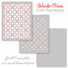 Load image into Gallery viewer, Winter Prism Cover Plates | Set of 3 Honey Cuts