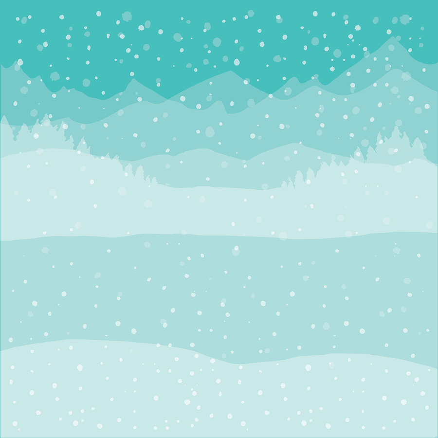 Winter Wonder Scene Builder | Background Stencils | Set of 6