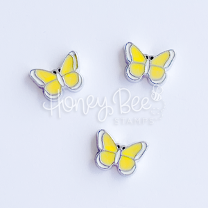 Yellow Butterflies | Set of 3 Shaker Charms