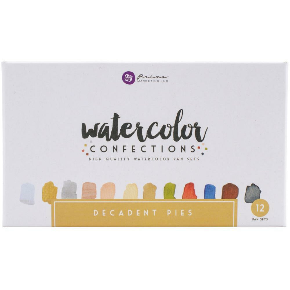 Load image into Gallery viewer, Decadent Pies | Prima Watercolor Confections Watercolor Pans 12/Pkg