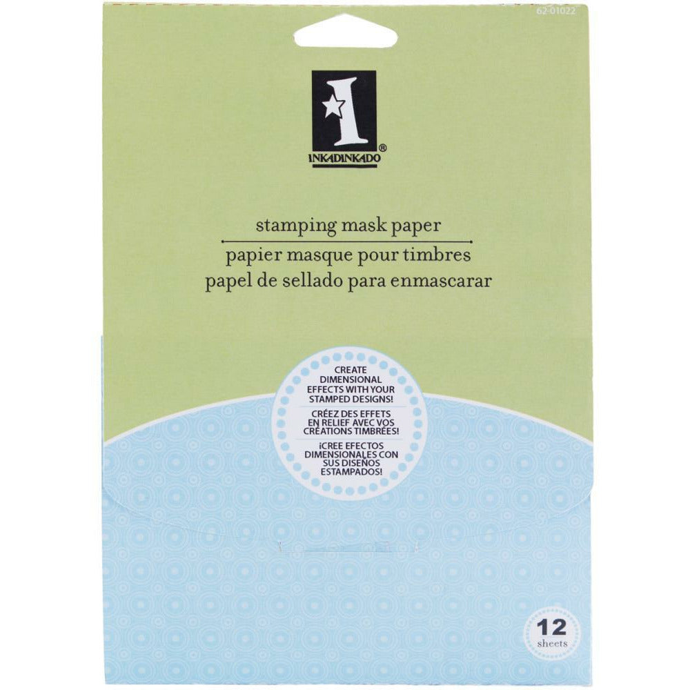 "Load image into Gallery viewer, Inkadinkado Stamping Mask Paper 7""X5"" 12/Pkg"