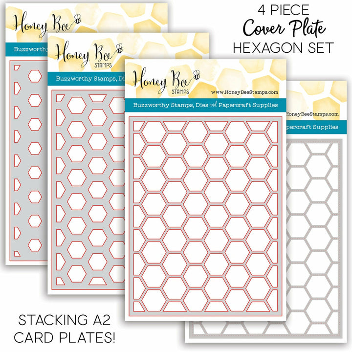 Stacking Hexagon Cover Plates | Set of 4 Honey Cuts | Steel Craft Dies