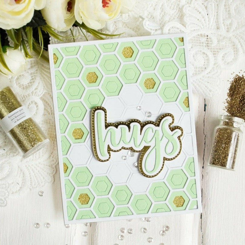 Hexagon Layering Background Stencils | Set of 3
