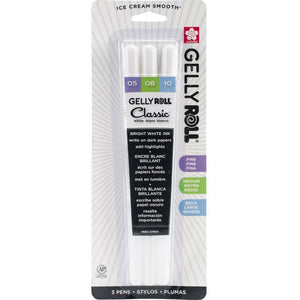 Gelly Roll Classic Point Pens 3/Pkg | Fine, Med, Bold