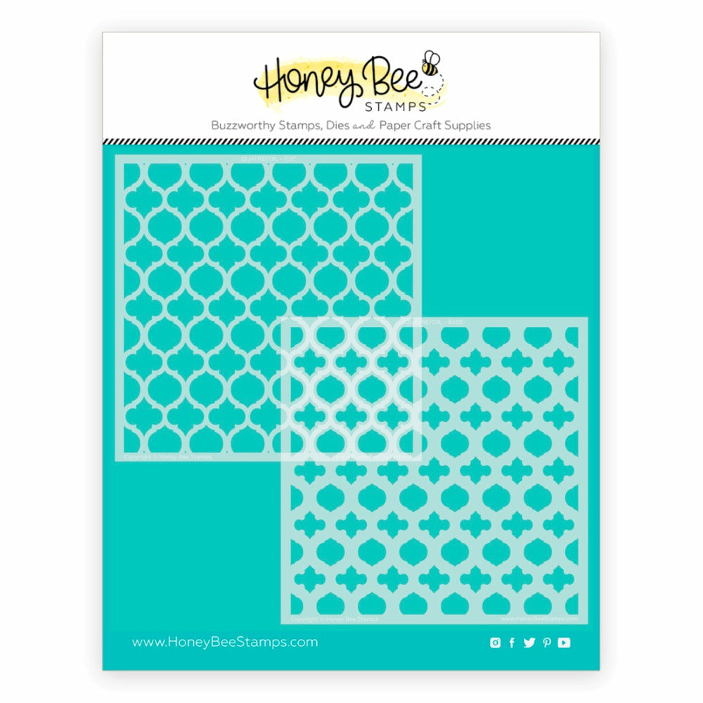 Load image into Gallery viewer, Quatrefoil Layers | Stencils | Set of 2