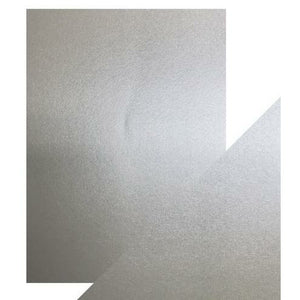 "Craft Perfect Pearlescent Cardstock 8.5"" X 11"" 5/pkg - Luna Silver"